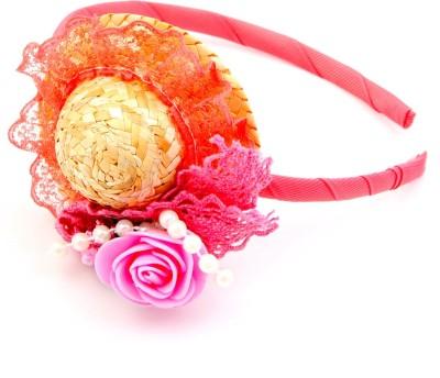 Sanjog Sanjog Orange Bubbly Hat Style Joot For Girls/Kids Hair Band