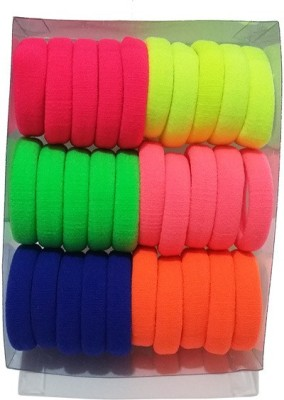 Best & Lowest Neon Multicolor Rubber Hairbands - Set Of 30 Pcs. Rubber Band
