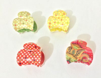 Ecombasket Combo of 4 Printed Korean Hair Claw