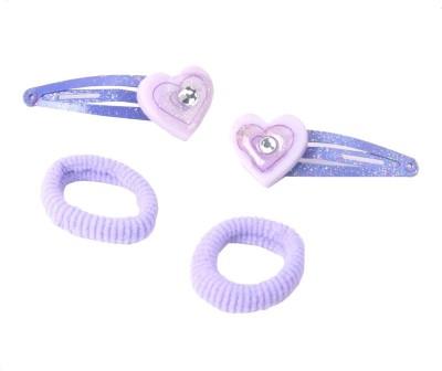 Addons Purple Colour H-Pin+Scrunchy Hair Pin