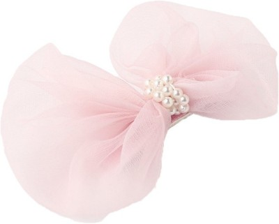 Pikaboo Chiffon Bow And Delicate Pearls Hair Clip