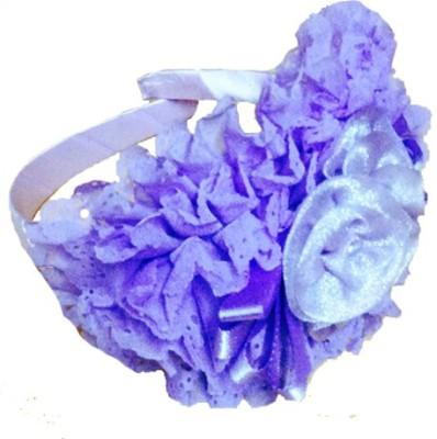 Chooz Designer Studio Designer purple Flower Crown Roses and Ribbons Head Band