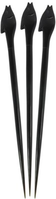 Prakrita Handicraft Fish Head Hair Pins Made of Buffalo Horn (Pack of 3) Hair Pin
