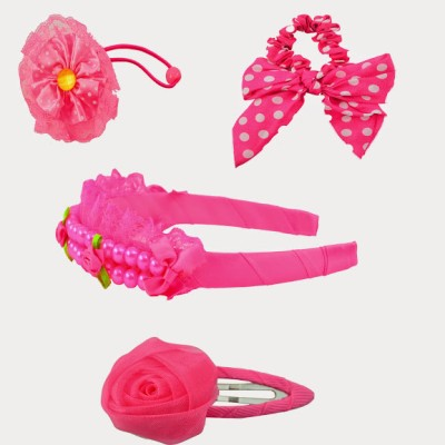 Angel Glitter Pink Cutie Clips Combo Hair Accessory Set