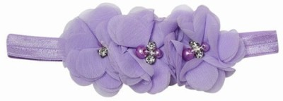 Pink & Blue India Rosette Flower Baby Head Band