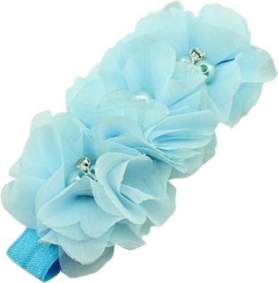 BabyZinnia Chiffon Flower Pearl Embellished Head Band