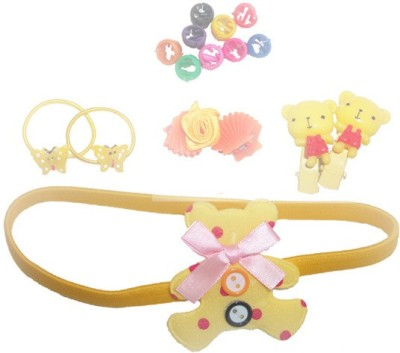 Y & J Rubber Band, Hair Band, Clip, Beads Hair Accessory Set