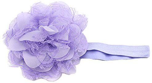 BONAMART BONAMART ? Baby Girls Kids Toddler Newborn Hair Bands Set Hairband Accessories Lace Linght Purple Hair Band(Multicolor)