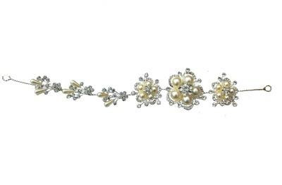 binnG creamy Hair Chain(Silver)