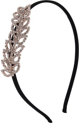 Fayon Tiny Rhinestone Leave Hair Band