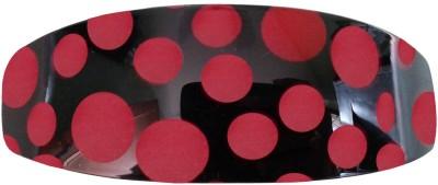 Shreya Collection Black & Maroon Colour Shiny Hair Ponytail Barrette Clutcher Clip Alligator Buckle Back Pin