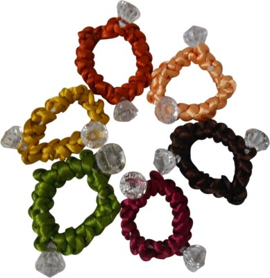 Adbeni Colourful Dimond Shape Resham Thread Coated Good Choice Rubber Band