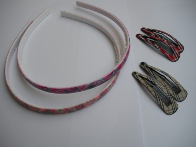 GLITTERR 2 Hairbands and set of 2Tic Tic clips Hair Band