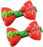 Angel Closet Christmas Bow Hair Clip (Re...