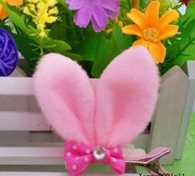 Bellazaara Rabbit Ears Alligator Hair Clip : Soft Pink Hair Clip