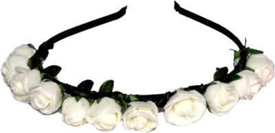 Idha White Roses Valentine Hair Band
