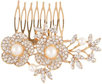 Dazzle Collections Floral Gold Hair Clip
