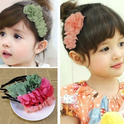 Bellazaara Princess Chiffon Flower Hair Band : pink Hair Band