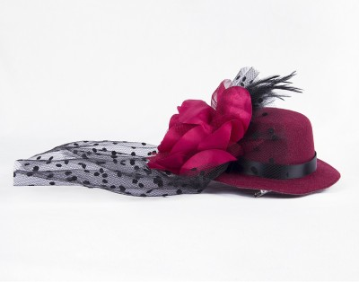 Stylemykidz Flowers And Net Hat Hair Pin