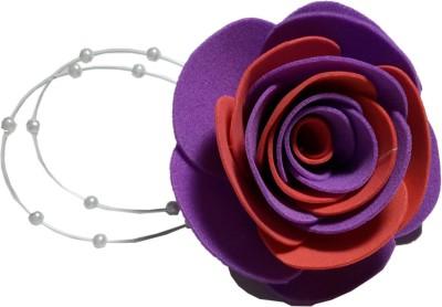 Apeksha Arts Purple Orange Floral Brooch Hair Pin