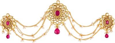 Kushals Fashion Jewellery Kundan Hair Brooch Hair Chain