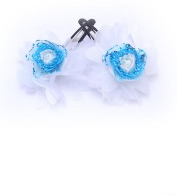 Soni Fashions Blue Flower Tic Tac Clip