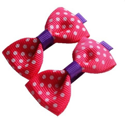 Angel Closet Polka Dots Bow Hair Clip