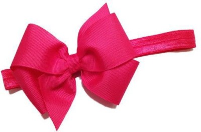 Bellazaara BELLAZAARA Baby Girl Boutique Fushia Pink Satin Ribbon Bow Headband  Head Band