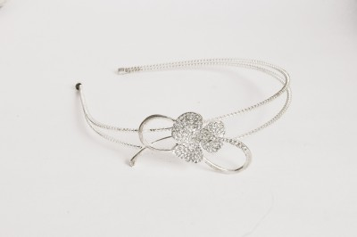 Itz About U Silver Flower Hair Band