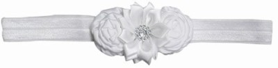 Pink & Blue India Floral Bouquet Newborn on top Bow Head Band