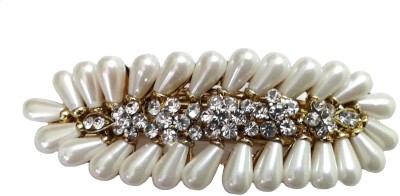 Shreya Collection Fashion Cream Colour Faux Pearl Hair Clip - 10006 Back Pin