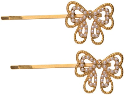 Sparkle Street Butterfly Bow Hair Accessory Set(Gold)