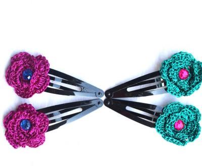 moKanc Tic Tac Clips with Crochet Motifs - Hair Clip