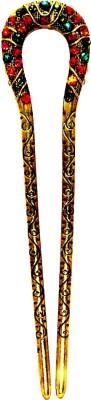 Women Trendz Multi Color Metal Juda Stick With Diamond Hair Clip