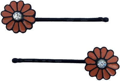 B-Fashionable Orange Happy Flower Hair Pin