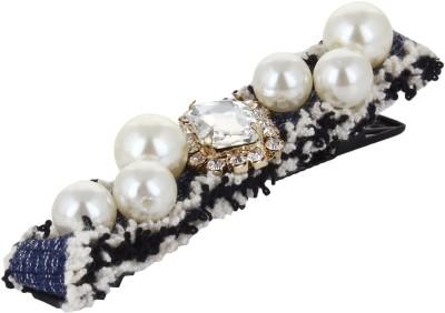 Fayon Fabulous Statement White Pearl Blue Hair Pin