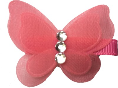Bellazaara Pretty Butterfly with rhinestone : Pink Hair Clip