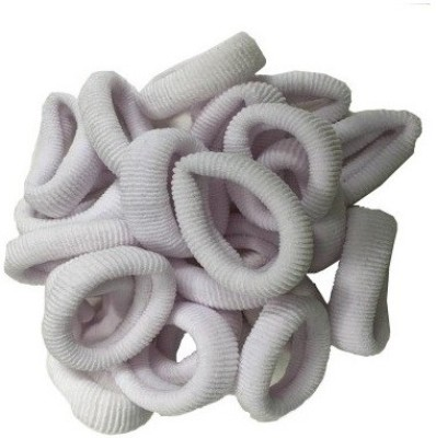 GoodsBazaar Elastic White Hair Rubber Band