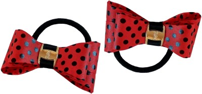 Trendy Nuts Dotted Bow Rubber Band