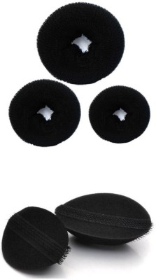 HomeoCulture Donut-Set And Volumizer Hair Accessory Set(Black)