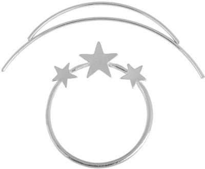 Young & Forever Moon Star Starry Sky Set Pierced Barrette Hair Clip
