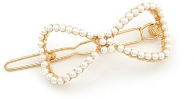 Crunchy Fashion Pearl Bow Hair Pin