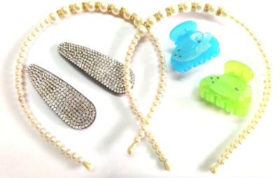 Samyak Pearl Coloured Hair Accessory Set