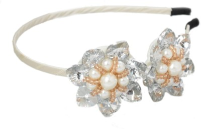 Shopaholic Fashion Hand Made Double Flower Crystal Hair Band