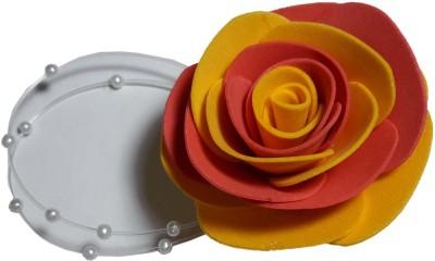 Apeksha Arts Red And Yellow Floral Brooch Hair Pin