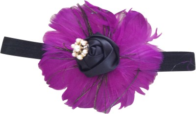 NeedyBee Purple Feather Head Band
