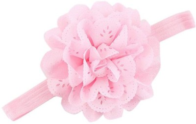 Bellazaara BELLAZAARA Mesh Flower Eyelet Baby Girls Elastic Light Pink Headband Kids Head Accessories Hairband Princess Hair Band Head Band