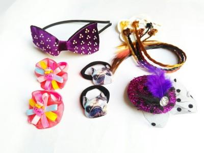 Samyak Velvet Hat Hair Band, Hair Clip, Rubber Band