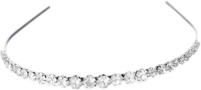 Ruba Adorable Stylish Collection For Her Hair Band(Silver)