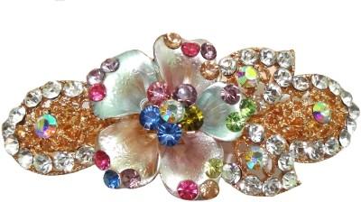 Shreya Collection Fashion Multi-colour Stone Studded Hair Clip Back Pin